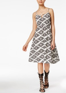 Volcom Juniors' Rough Edges Printed Fit & Flare Dress