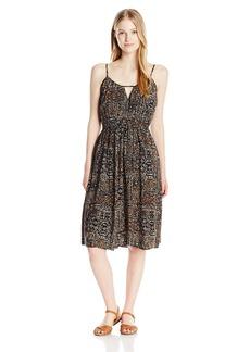Volcom Junior's Rough Edges Tribal Print Mid Length Dress  S