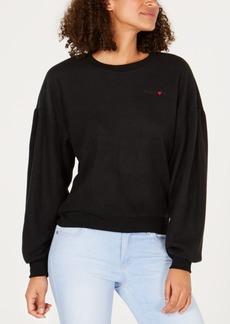 Volcom Juniors' Shirred-Sleeve Fleece Sweatshirt