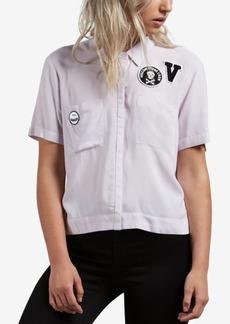 Volcom Juniors' Short-Sleeve Graphic-Patch Shirt