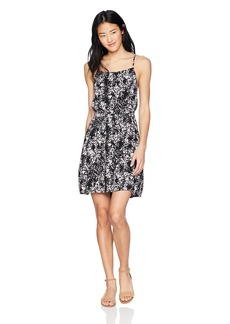 Volcom Junior's SIDESNAKED Apron Front CAMI Dress  S