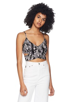 Volcom Junior's SIDESNAKED Strappy Printed Crop TOP