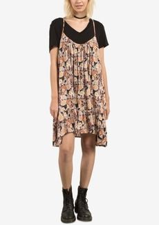 Volcom Juniors' Simple Things Printed Ruffled Dress