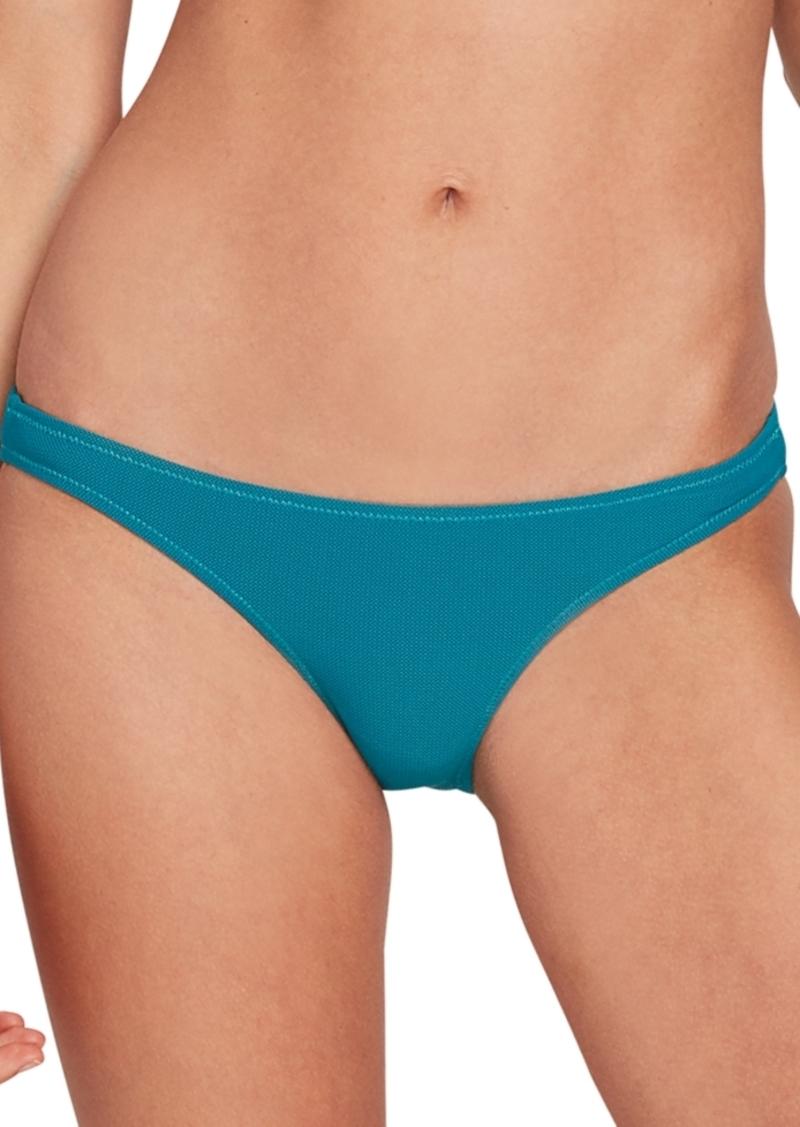 Volcom Juniors' Simply Mesh Solid Hipster Bikini Bottoms Women's Swimsuit