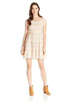 Volcom Junior's Smocked Up Off The Shoulder Dress