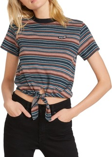 Volcom Juniors' So Far Out Tie-Front T-Shirt