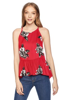 Volcom Junior's Soul Window HIGH Necked TOP rad red L