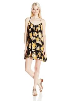 Volcom Junior's Stampede Floral Print Cami Dress BLC XS