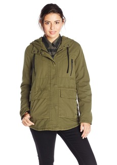 Volcom Junior's Stand Up Military Parka Jacket  Small