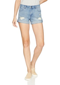 Volcom Junior's Stoned Boyfriend Fit Rolled Cuff Denim Short