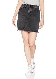 Volcom Junior's Stoned High Rise Raw Hem Mini Skirt  S