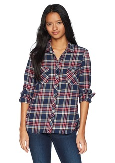 Volcom Junior's Street Dreaming Long Sleeve Flannel Shirt  XS