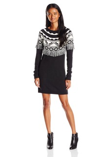 Volcom Juniors Underwater Jacquard Sweater Dress