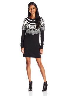 Volcom Juniors Underwater Jacquard Sweater Dress