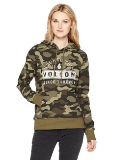 Volcom Junior's Vol Stone Pullover Lined Hoody Sweatshirt  S