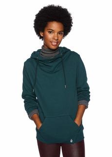 Volcom Junior's Walk on by High Neck Hooded Fleece Sweatshirt