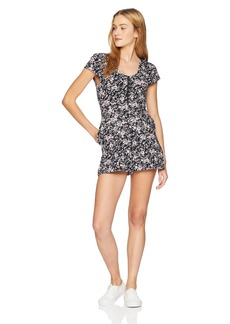 Volcom Junior's What A Looker Cap Sleeved Romper  XS