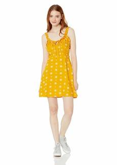 Volcom Junior's Women's I Like It Ruffle Cami Dress