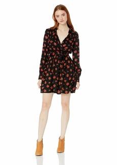 Volcom Junior's Women's Rose to The Top Mini Dress red