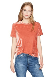 Volcom Junior's Womens' Velour You in Short Sleeve Crew Neck Top  L