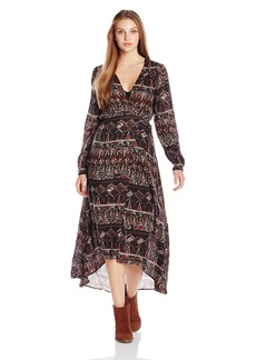 Volcom Junior's Wrapture Printed Maxi Dress