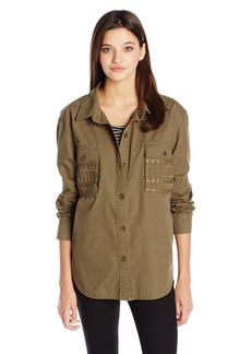 Volcom Juniors Wyld Journeylong sleeve button up shirt