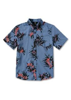 Volcom Kids' Floral Button-Up Shirt (Toddler, Little Boy & Big Boy)