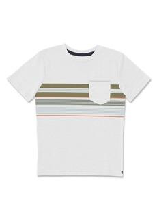 Volcom Kids' Line Stack Stripe Pocket T-Shirt (Toddler & Little Boy)