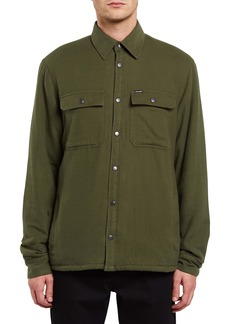 Volcom Larkin Faux Fur Lined Shirt Jacket