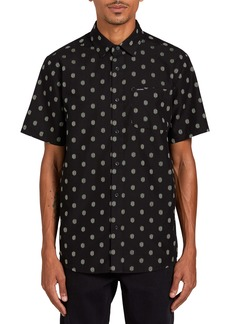 Volcom Macro Dot Short Sleeve Button-Up Shirt