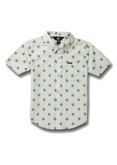 Volcom Macro Dot Short Sleeve Button-Up Shirt (Toddler & Little Boy)