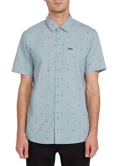 Volcom Mark Mix Print Short Sleeve Button-Up Shirt