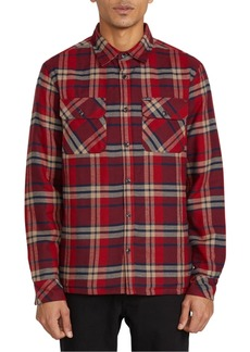 Volcom Men's Belgrade Quilted Plaid Shirt