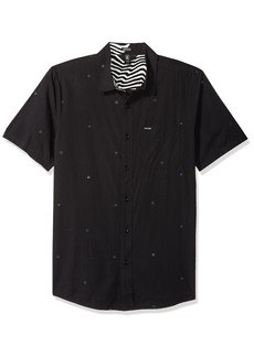 Volcom Men's Bleeker Short Sleeve Button Up Shirt  S