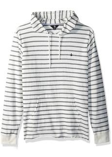 Volcom Men's Breakers Long Sleeve Striped Hooded Shirt  M