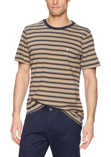 Volcom Men's Briggs Crew Short Sleeve Striped Knit Shirt  XS