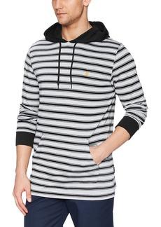 Volcom Men's Briggs Striped Long Sleeve Hooded Shirt  XL