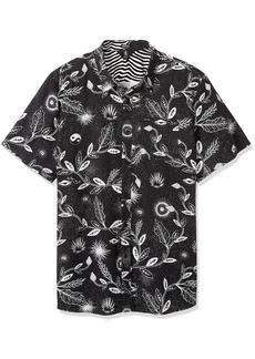 Volcom Men's Broha Short Sleeve Button Up Hawaiian Shirt  S