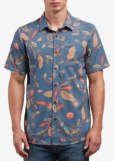 Volcom Men's Broha Slim-Fit Leaf-Print Shirt