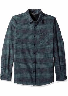 Volcom Men's Buffalo Glitch Modern Fit Woven Long Sleeve Button Up Shirt  Extra Large