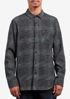 Volcom Men's Buffalo Glitch Plaid Pocket Shirt