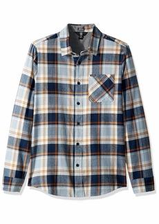 Volcom Men's Caden Plaid Long Sleeve Flannel Shirt