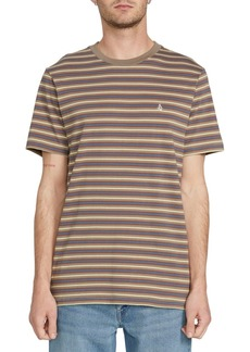 Volcom Men's Chasen Striped Short Sleeve Knit Shirt