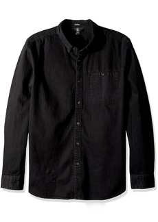 Volcom Men's Crowley Chambray Button Up Long Sleeve Shirt  XL