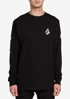 Volcom Men's Deadly Stones Long-Sleeve Logo T-Shirt
