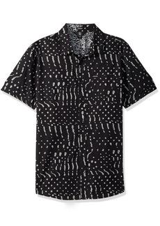 Volcom Men's Drag Dot Short Sleeve Button Up Shirt  XL