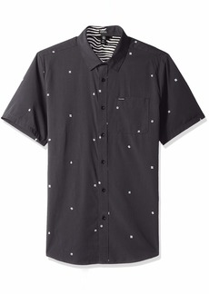 Volcom Men's Dragstone Modern Fit Woven Button Up Short Sleeve
