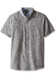 Volcom Men's Everett Oxford Modern Fit Short Sleeve Shirt  2XL