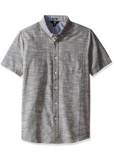 Volcom Men's Everett Oxford Modern Fit Short Sleeve Shirt