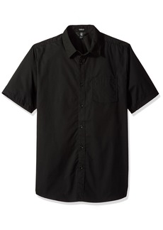 Volcom Men's Everett Solid Short Sleeve Shirt  Extra Small